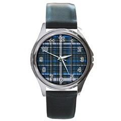 3d Effect Apartments Windows Background Round Metal Watch