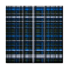 3d Effect Apartments Windows Background Tile Coasters