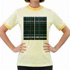 3d Effect Apartments Windows Background Women s Fitted Ringer T-Shirts
