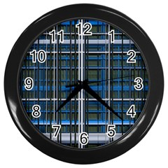 3d Effect Apartments Windows Background Wall Clocks (Black)