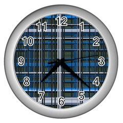 3d Effect Apartments Windows Background Wall Clocks (silver)