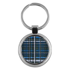 3d Effect Apartments Windows Background Key Chains (Round)