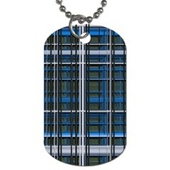 3d Effect Apartments Windows Background Dog Tag (One Side)