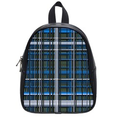 3d Effect Apartments Windows Background School Bags (small)