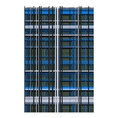 3d Effect Apartments Windows Background Shower Curtain 48  X 72  (small)