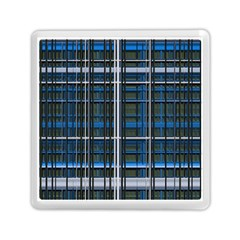 3d Effect Apartments Windows Background Memory Card Reader (Square)
