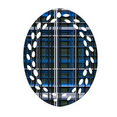 3d Effect Apartments Windows Background Ornament (Oval Filigree)