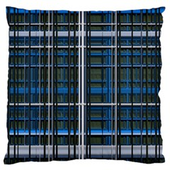 3d Effect Apartments Windows Background Large Cushion Case (two Sides)