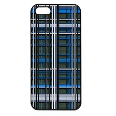 3d Effect Apartments Windows Background Apple iPhone 5 Seamless Case (Black)