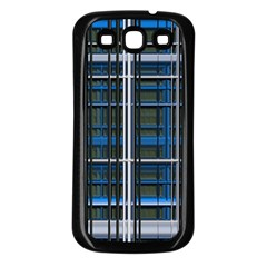 3d Effect Apartments Windows Background Samsung Galaxy S3 Back Case (Black)