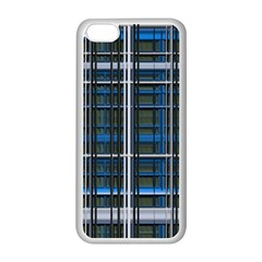 3d Effect Apartments Windows Background Apple Iphone 5c Seamless Case (white)