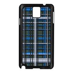 3d Effect Apartments Windows Background Samsung Galaxy Note 3 N9005 Case (Black)