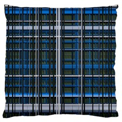 3d Effect Apartments Windows Background Large Flano Cushion Case (One Side)