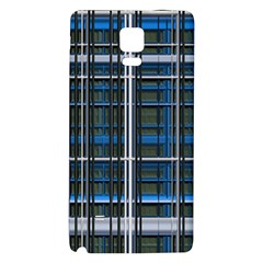 3d Effect Apartments Windows Background Galaxy Note 4 Back Case