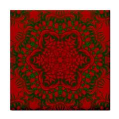 Christmas Kaleidoscope Tile Coasters