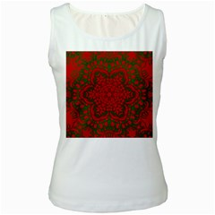 Christmas Kaleidoscope Women s White Tank Top
