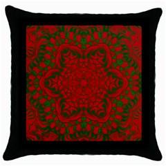 Christmas Kaleidoscope Throw Pillow Case (Black)