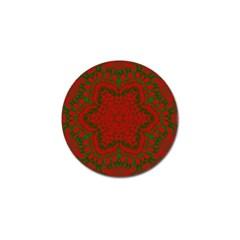 Christmas Kaleidoscope Golf Ball Marker