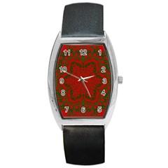 Christmas Kaleidoscope Barrel Style Metal Watch