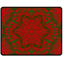 Christmas Kaleidoscope Fleece Blanket (medium)