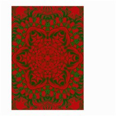 Christmas Kaleidoscope Small Garden Flag (two Sides)