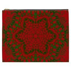 Christmas Kaleidoscope Cosmetic Bag (XXXL)