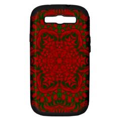 Christmas Kaleidoscope Samsung Galaxy S III Hardshell Case (PC+Silicone)