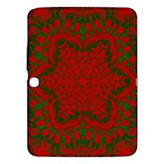 Christmas Kaleidoscope Samsung Galaxy Tab 3 (10 1 ) P5200 Hardshell Case