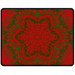 Christmas Kaleidoscope Double Sided Fleece Blanket (medium)
