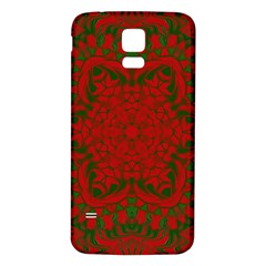 Christmas Kaleidoscope Samsung Galaxy S5 Back Case (white)