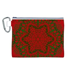 Christmas Kaleidoscope Canvas Cosmetic Bag (L)