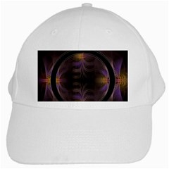 Wallpaper With Fractal Black Ring White Cap