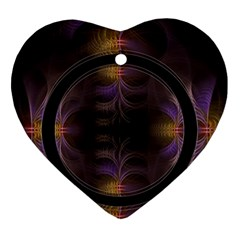Wallpaper With Fractal Black Ring Ornament (heart)