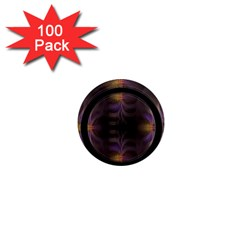 Wallpaper With Fractal Black Ring 1  Mini Magnets (100 Pack)