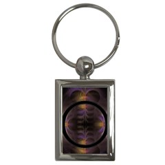 Wallpaper With Fractal Black Ring Key Chains (rectangle)