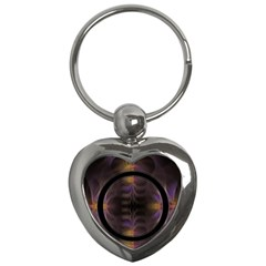 Wallpaper With Fractal Black Ring Key Chains (heart)