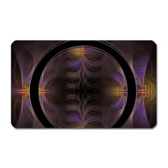 Wallpaper With Fractal Black Ring Magnet (Rectangular)