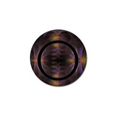 Wallpaper With Fractal Black Ring Golf Ball Marker (10 pack)