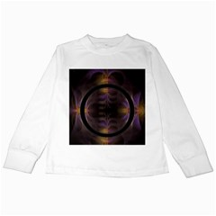 Wallpaper With Fractal Black Ring Kids Long Sleeve T Shirts