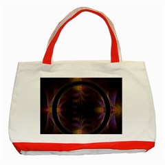 Wallpaper With Fractal Black Ring Classic Tote Bag (red)