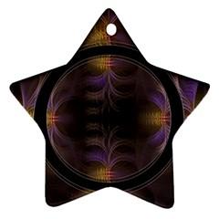 Wallpaper With Fractal Black Ring Star Ornament (Two Sides)