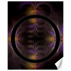 Wallpaper With Fractal Black Ring Canvas 11  X 14