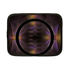 Wallpaper With Fractal Black Ring Netbook Case (small)
