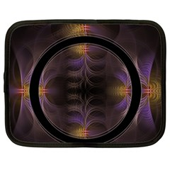 Wallpaper With Fractal Black Ring Netbook Case (large)