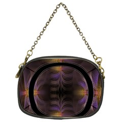 Wallpaper With Fractal Black Ring Chain Purses (two Sides)