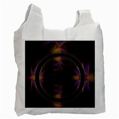 Wallpaper With Fractal Black Ring Recycle Bag (One Side)