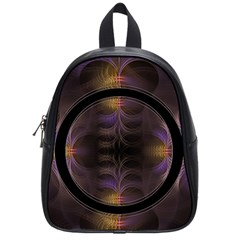 Wallpaper With Fractal Black Ring School Bags (small)