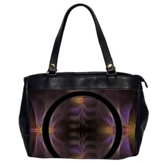Wallpaper With Fractal Black Ring Office Handbags (2 Sides)