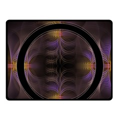 Wallpaper With Fractal Black Ring Fleece Blanket (Small)