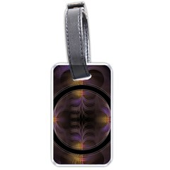 Wallpaper With Fractal Black Ring Luggage Tags (One Side)